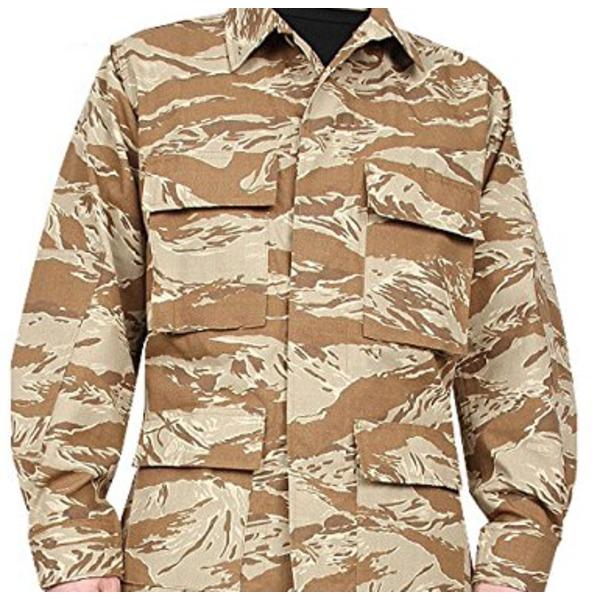 アメリカ軍 BDUジャケット/迷彩ジャケット  Sサイズ  JB001YN リップストップ デザート タイガー  レプリカ