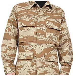 アメリカ軍 BDUジャケット/迷彩ジャケット 【 Lサイズ 】 JB001YN リップストップ デザート タイガー 【 レプリカ 】