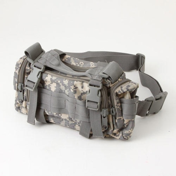 アメリカ陸軍 3WAYウエストバッグ ナイロン(1000デニール) 防水生地使用 B S056YN ACU カモ  レプリカ