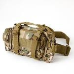 アメリカ陸軍 3WAYウエストバッグ ナイロン(1000デニール) 防水生地使用 B S056YN マルチ カモ 【 レプリカ 】 の画像