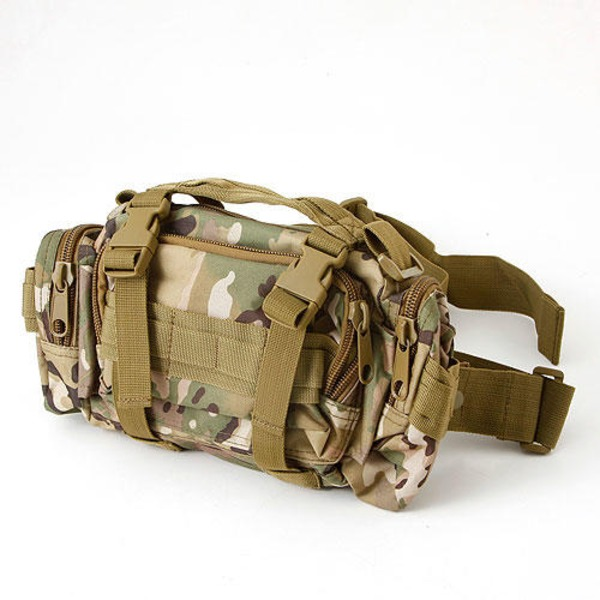 アメリカ陸軍 3WAYウエストバッグ ナイロン(1000デニール) 防水生地使用 B S056YN マルチ カモ  レプリカ