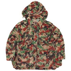 スイス軍放出 アルペン カモフラージュマンテンジャケット 【中古】 XL
