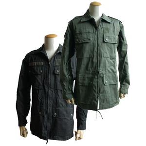 フランス空軍放出 AFフィールドジャケット未使用デットストック ブラック染め