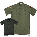 ドイツ軍放出 フィールドシャツ半袖未使用デットストック ブラック L