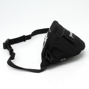 「THRASHER」綿キャンパス帆布製ウェスト&ボディー2WAYバッグブラック×スケートゴート f05