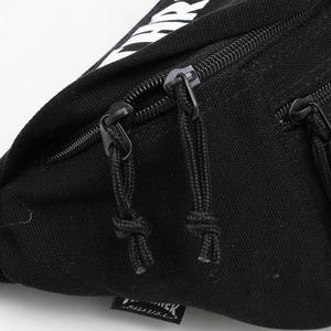 「THRASHER」綿キャンパス帆布製ウェスト&ボディー2WAYバッグブラック×スケートゴート f06