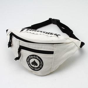 「THRASHER」綿キャンパス帆布製ウェスト&ボディー2WAYバッグアイボリー×アース h01