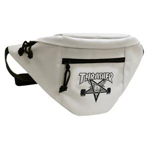 「THRASHER」綿キャンパス帆布製ウェスト&ボディー2WAYバッグアイボリー×スケートゴート h02