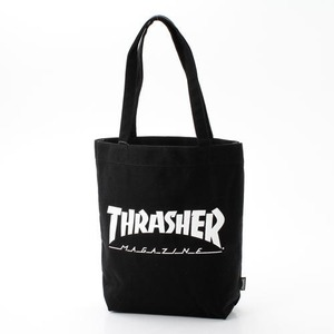 「THRASHER」綿キャンパス帆布製トートバックブラック×マグロゴ