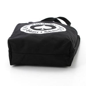 「THRASHER」綿キャンパス帆布製トートバックブラック×スケートゴート f05