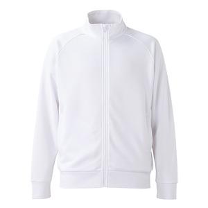 UVカット・吸汗速乾・ドライジャージパイルフルジップラグランスリーブジャケット ホワイト M