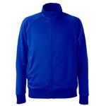 UVカット・吸汗速乾・ドライジャージパイルフルジップラグランスリーブジャケット コバルトブルー S