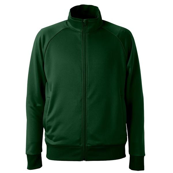 UVカット・吸汗速乾・ドライジャージパイルフルジップラグランスリーブジャケット アビーグリーン XXLf00