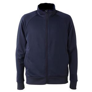 UVカット・吸汗速乾・ドライジャージパイルフルジップラグランスリーブジャケット ネイビー XL