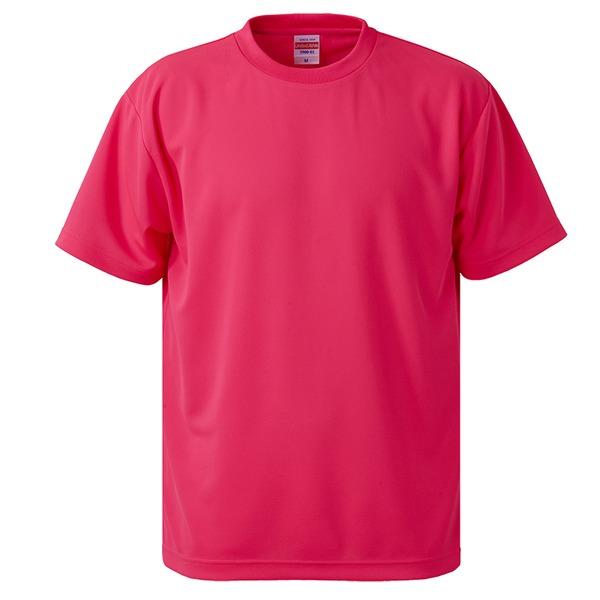 UVカット・吸汗速乾・5枚セット・4.1オンスさらさらドライ Tシャツ蛍光ピンク Lf00