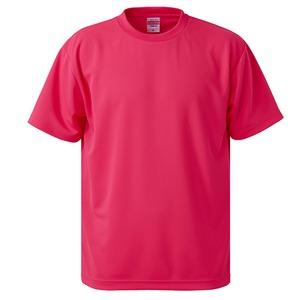 UVカット・吸汗速乾・5枚セット・4.1オンスさらさらドライ Tシャツ蛍光ピンク XXL h01