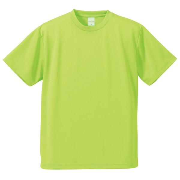 UVカット・吸汗速乾・5枚セット・4.1オンスさらさらドライ Tシャツライム グリーン 160cmf00