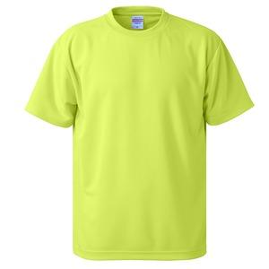 UVカット・吸汗速乾・5枚セット・4.1オンスさらさらドライ Tシャツ蛍光 イエロー XXL h01