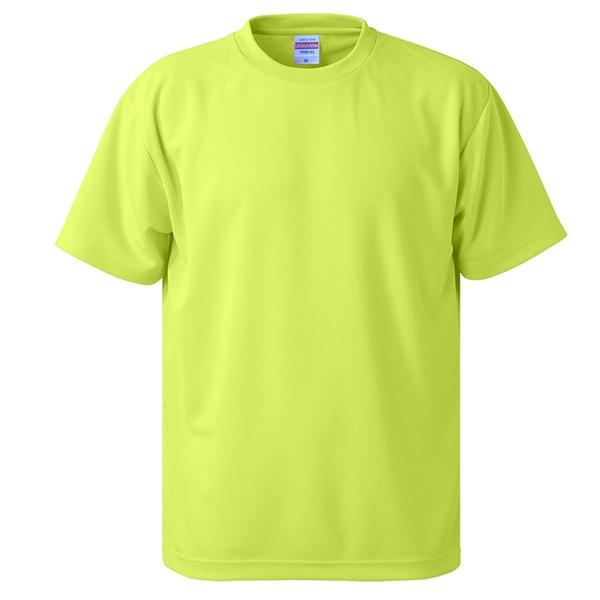 UVカット・吸汗速乾・5枚セット・4.1オンスさらさらドライ Tシャツ蛍光 イエロー XXLf00