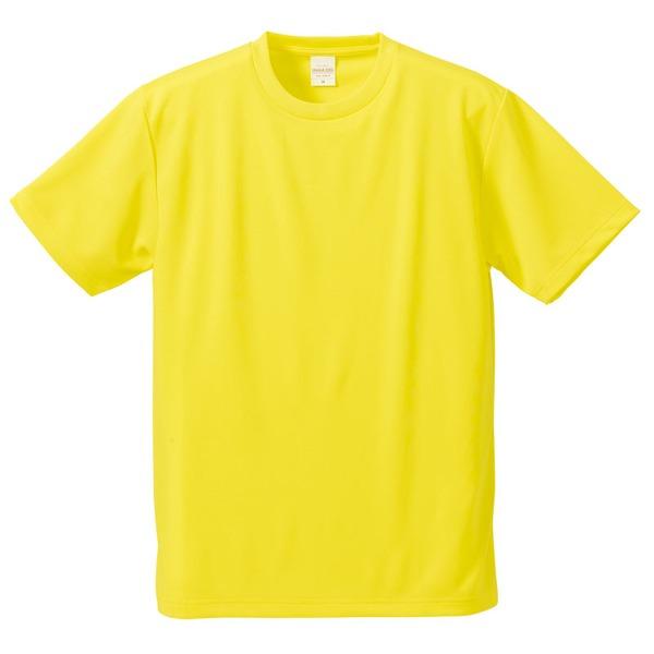 UVカット・吸汗速乾・5枚セット・4.1オンスさらさらドライ Tシャツ イエロー 150cmf00