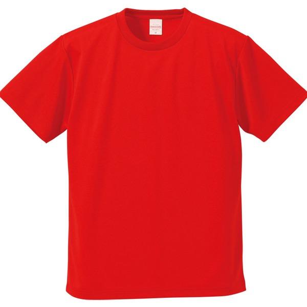 UVカット・吸汗速乾・5枚セット・4.1オンスさらさらドライ Tシャツ レッド Mf00