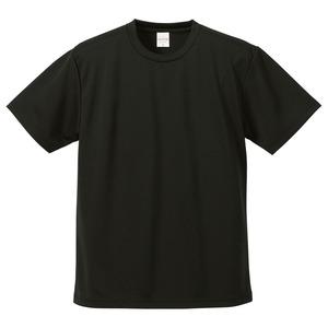 UVカット・吸汗速乾・5枚セット・4.1オンスさらさらドライ Tシャツ ブラック M h01