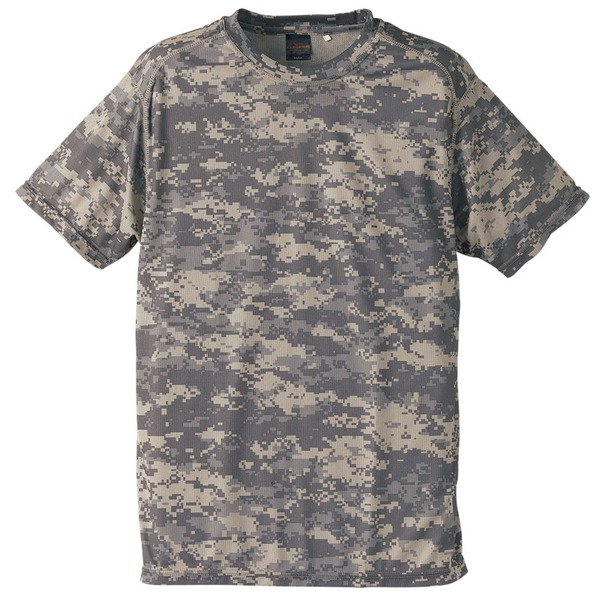 自衛隊海外派遣使用・立体裁断・吸汗速乾さらさらドライ 迷彩 Tシャツ ACU M