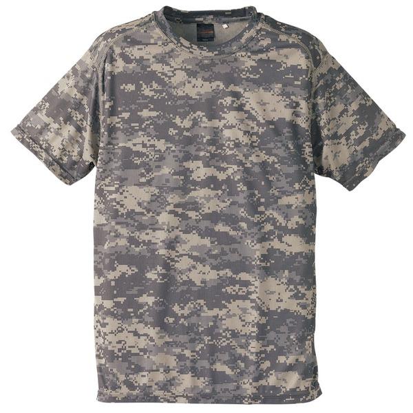 自衛隊海外派遣使用・立体裁断・吸汗速乾さらさらドライ 迷彩 Tシャツ ACU Lf00