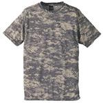 自衛隊海外派遣使用・立体裁断・吸汗速乾さらさらドライ 迷彩 Tシャツ ACU XL