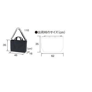 14.3オンス帆布製綿キャンパスコットン25リッター容量ラージショルダーバッグ2WAY ネイビー f04