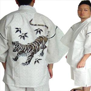 金虎の手書き絵・甚平キングサイズ白3L