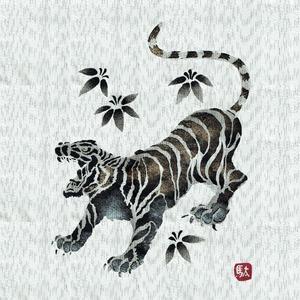 金虎の手書き絵・甚平 キングサイズ白5L