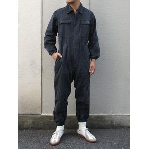 東ドイツ軍放出 ワーカーカバーオール ブラック 【中古】 52サイズ( XL相当)
