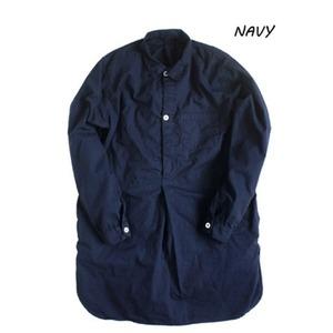 スウェーデン軍放出 プルオーバースリーピングシャツ後染め未使用デットストック ネイビー36(レディースフリー相当