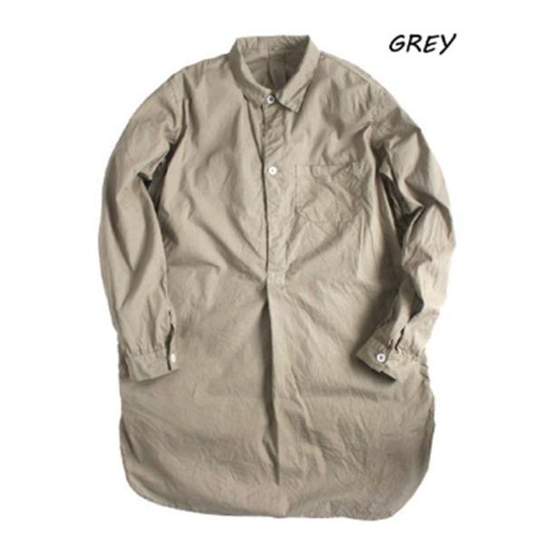 スウェーデン軍放出 プルオーバースリーピングシャツ後染め未使用デットストック グレー36(レディースフリー相当)