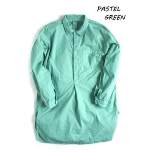 スウェーデン軍放出 プルオーバースリーピングシャツ後染め未使用デットストック・パステル グリーン36(レディースフリー相当)