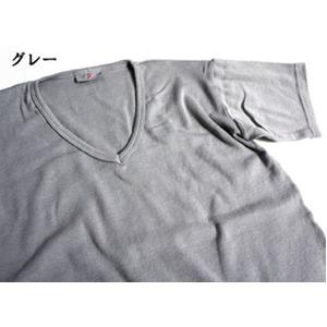 フランス軍VネックTシャツレプリカ  後染めグレー7(M)