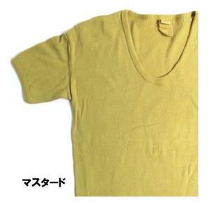 東ドイツ軍UネックTシャツレプリカ マスタード 5(L)