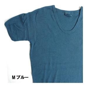 東ドイツ軍 Uネック Tシャツレプリカ M ブルー 4( M)