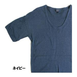 東ドイツ軍 Uネック Tシャツレプリカ ネイビー 5( L)