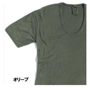 東ドイツ軍 Uネック Tシャツレプリカ オリーブ 4( M)