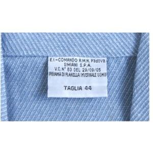 イタリア軍放スリーピングシャツ未使用デットストック サックスブルー44(M相当)