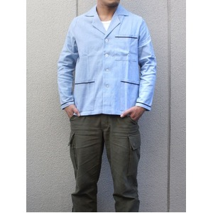 イタリア軍 放スリーピングシャツ未使用デットストック サックス ブルー 50( L相当)