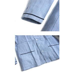 イタリア軍放スリーピングシャツ未使用デットストック サックスブルー 50(L相当)