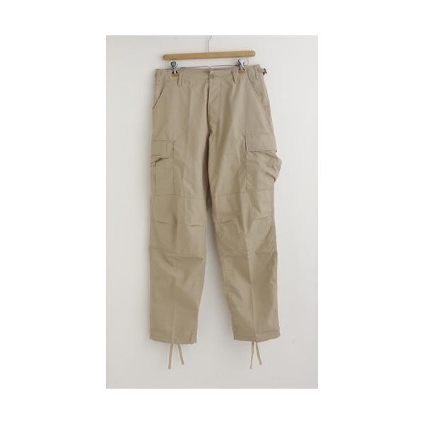 アメリカ軍 BDU カーゴパンツ /迷彩服パンツ  XSサイズ  リップストップ YN521007 カーキ  レプリカ