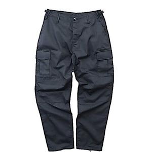 アメリカ軍BDUカーゴパンツ/迷彩服パンツ【Lサイズ】リップストップYN521007ブラック【レプリカ】