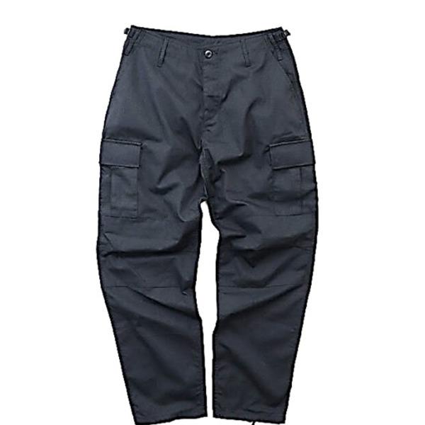 アメリカ軍 BDU カーゴパンツ /迷彩服パンツ  Lサイズ  リップストップ YN521007 ブラック  レプリカ