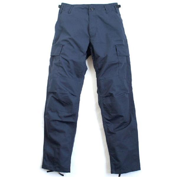 アメリカ軍 BDU カーゴパンツ /迷彩服パンツ  Lサイズ  リップストップ YN521007 ネイビー  レプリカ