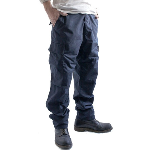 アメリカ軍 BDU カーゴパンツ /迷彩服パンツ  XLサイズ  リップストップ YN521007 ネイビー  レプリカ