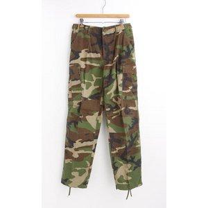 アメリカ軍 BDU カーゴパンツ /迷彩服パンツ 【 Sサイズ 】 リップストップ YN521007 ウットランド 【 レプリカ 】